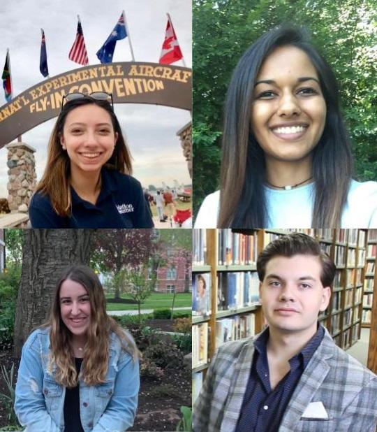 81d5578828c5 The 2019 Bob Eddy Scholarship recipients, clockwise starting from top left,  Ashley Anglisano, Sanchali Singh, Gabriel Pietrorazio and Sarah Rose Willson